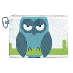 Owl Comic Animal Canvas Cosmetic Bag (xl) by Simbadda