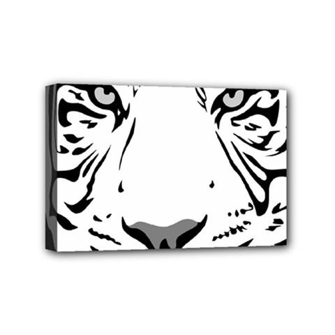Tiger Pattern Animal Design Flat Mini Canvas 6  X 4  by Simbadda