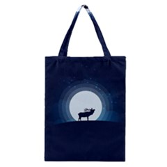 Moon Hirsch Wild Nature Antler Classic Tote Bag by Simbadda