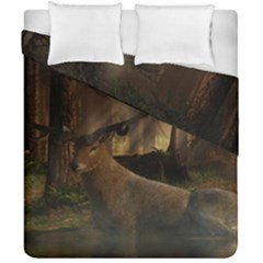 Mammal Nature Wood Tree Waters Duvet Cover Double Side (california King Size) by Simbadda