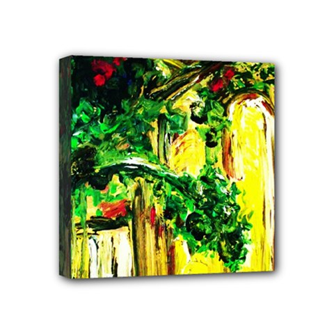 Old Tree And House With An Arch 2 Mini Canvas 4  X 4  by bestdesignintheworld