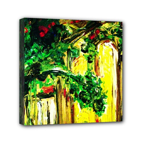 Old Tree And House With An Arch 2 Mini Canvas 6  X 6  by bestdesignintheworld