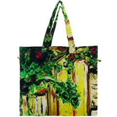 Old Tree And House With An Arch 2 Canvas Travel Bag by bestdesignintheworld