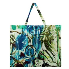 Clocls And Watches 3 Zipper Large Tote Bag by bestdesignintheworld
