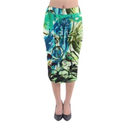 Clocls And Watches 3 Midi Pencil Skirt by bestdesignintheworld