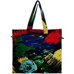 Tumble Weed And Blue Rose 1 Canvas Travel Bag by bestdesignintheworld