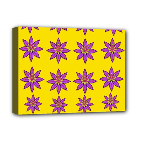 Fantasy Flower In The Happy Jungle Of Beauty Deluxe Canvas 16  X 12   by pepitasart
