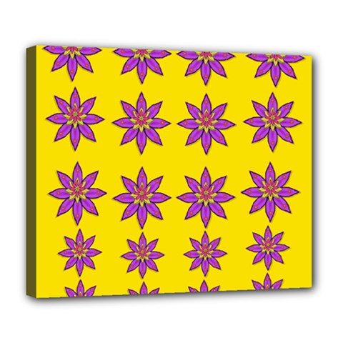 Fantasy Flower In The Happy Jungle Of Beauty Deluxe Canvas 24  X 20   by pepitasart