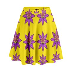 Fantasy Flower In The Happy Jungle Of Beauty High Waist Skirt by pepitasart