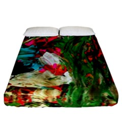 Sunset In A Mountains 1 Fitted Sheet (king Size) by bestdesignintheworld