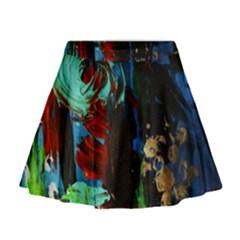 Night At The Foot Of Fudziama 2 Mini Flare Skirt by bestdesignintheworld