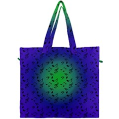 Blue Music Green Moon Canvas Travel Bag by snowwhitegirl