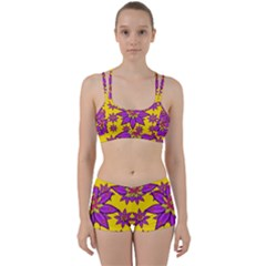 Fantasy Big Flowers In The Happy Jungle Of Love Women s Sports Set