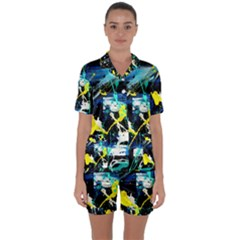 My Brain Reflection 1/2 Satin Short Sleeve Pyjamas Set