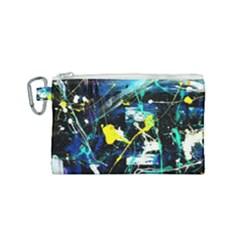 My Brain Reflection 1/2 Canvas Cosmetic Bag (small) by bestdesignintheworld