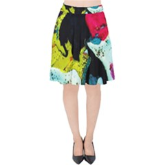 Buffalo Vision Velvet High Waist Skirt by bestdesignintheworld