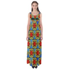 Artwork By Patrick Colorful 43 Empire Waist Maxi Dress