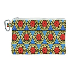 Artwork By Patrick Colorful 43 Canvas Cosmetic Bag (large)