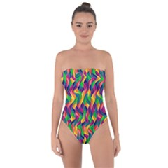 Artwork By Patrick Colorful 44 Tie Back One Piece Swimsuit