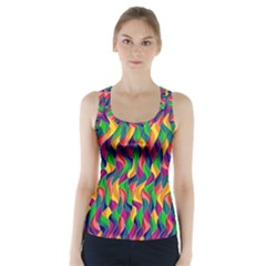 Artwork By Patrick Colorful 44 Racer Back Sports Top
