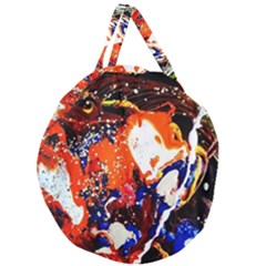 Smashed Butterfly 8 Giant Round Zipper Tote by bestdesignintheworld