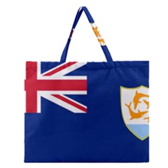 Flag Of Anguilla Zipper Large Tote Bag by abbeyz71