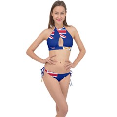 Flag Of Anguilla Cross Front Halter Bikini Set