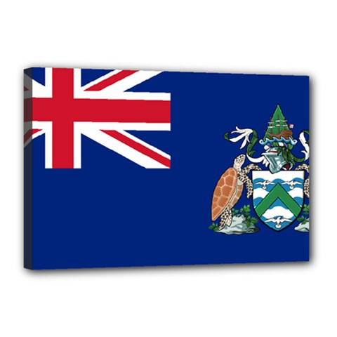 Flag Of Ascension Island Canvas 18  X 12  by abbeyz71