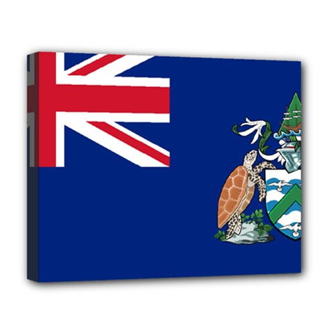 Flag Of Ascension Island Deluxe Canvas 20  X 16   by abbeyz71