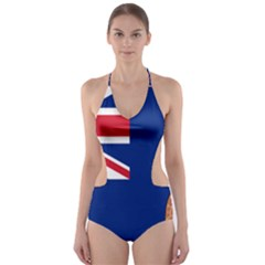 Flag Of Ascension Island Cut Out One Piece Swimsuit