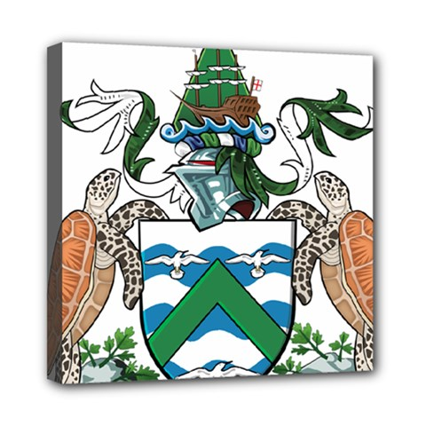 Coat Of Arms Of Ascension Island Mini Canvas 8  X 8  by abbeyz71