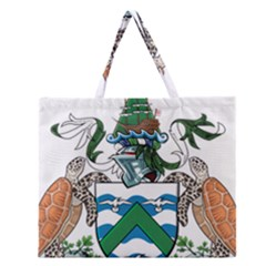 Coat Of Arms Of Ascension Island Zipper Large Tote Bag by abbeyz71