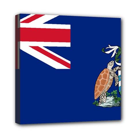 Flag Of Ascension Island Mini Canvas 8  X 8  by abbeyz71