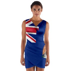 Flag Of Ascension Island Wrap Front Bodycon Dress by abbeyz71