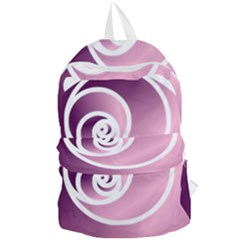 Rose Foldable Lightweight Backpack by Jylart