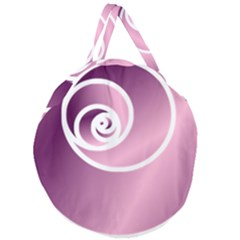 Rose  Giant Round Zipper Tote by Jylart