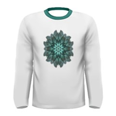Emerald Flower Mandala Men s Long Sleeve Tee