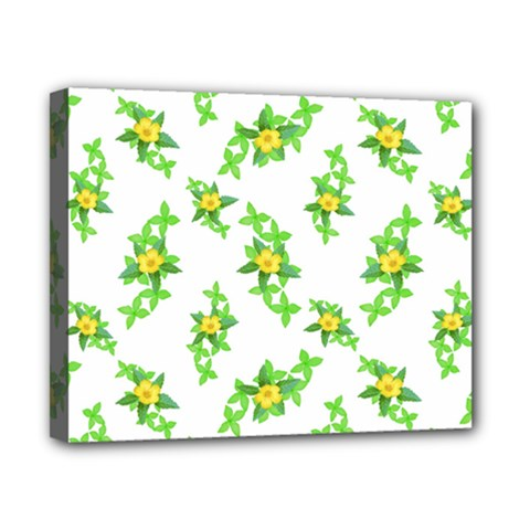 Airy Floral Pattern Canvas 10  X 8  by dflcprints
