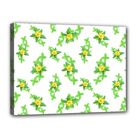 Airy Floral Pattern Canvas 16  X 12  by dflcprints