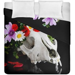 Animal Skull With A Wreath Of Wild Flower Duvet Cover Double Side (king Size) by igorsin