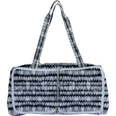 Abstract Wavy Black And White Pattern Multi Function Bag
