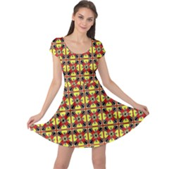 Artwork By Patrick Colorful 45 Cap Sleeve Dress