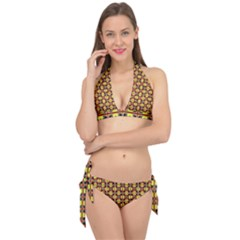 Artwork By Patrick Colorful 45 Tie It Up Bikini Set