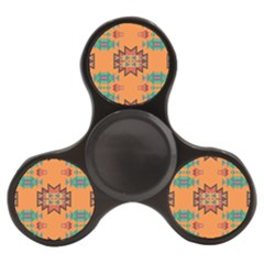 Misc Shapes On An Orange Background                              Finger Spinner by LalyLauraFLM