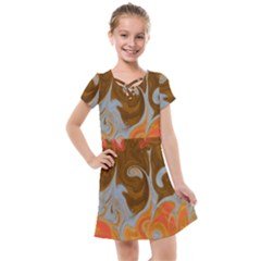 Fire And Water Kids  Cross Web Dress
