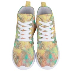 Pink Pastel Abstract Women s Lightweight High Top Sneakers