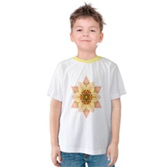 Asiatic Lily Flower Mandala Kids  Cotton Tee