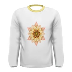 Asiatic Lily Flower Mandala Men s Long Sleeve Tee