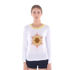 Asiatic Lily Flower Mandala Women s Long Sleeve Tee
