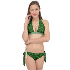 Canal Flowers Cream And Greens Tie It Up Bikini Set